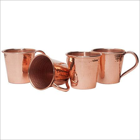 Solid Copper Hammered Moscow Mule Mug - Authentic Copper Mug with No Inner Linings