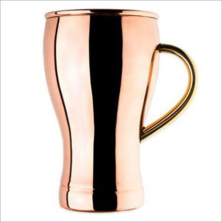 Pure Copper Pint Glass with Handle