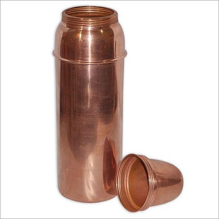 Traveller's Pure Copper Water Bottle with Cup