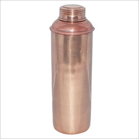 Copper Bottle with Screw on Lid Solid No Leak Bottle Handmade in India