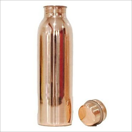 Pure Copper Ayurvedic Water Bottle  Leak-Proof Seal Cap
