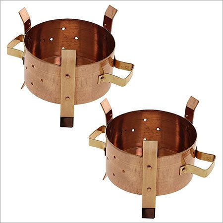 Copper Pot Fuel Burner Warming Stand